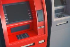 ATM med den tomma skärmen Royaltyfri Foto