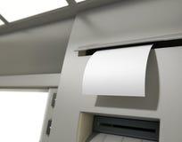 ATM-Misstap Leeg Ontvangstbewijs Stock Fotografie