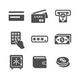 ATM and money icons Stock Images