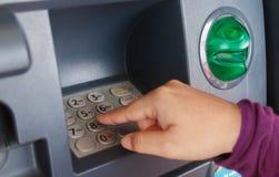 ATM-Nahaufnahme Stockbild