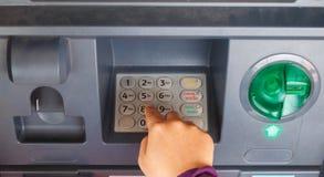 ATM-Nahaufnahme Lizenzfreie Stockfotos