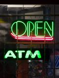 ATM Open Stock Photo