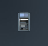 Atm over grey background Royalty Free Stock Images