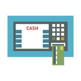 ATM payment card terminal vector illustration. Royalty Free Stock Images