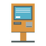 ATM payment terminal vector illustration. Royalty Free Stock Images