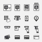 ATM-pictogram Stock Afbeelding