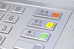 ATM pin code Stock Images