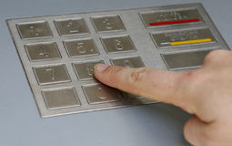 ATM pincode Stock Images