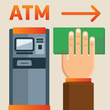 ATM plate. Simple and understandable information plate ATM presence. 100% editable vector format Royalty Free Stock Photography