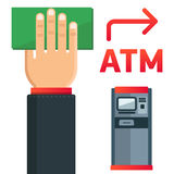 ATM plate. Simple and understandable information plate ATM presence. 100% editable vector format Stock Photo