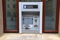 ATM in Poland royalty free stock photo