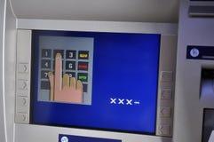 ATM - Procedimento do ener do PIN imagem de stock