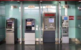 ATM, Querneigung, Peking, China Lizenzfreies Stockbild