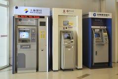 ATM, Querneigung, Peking, China Stockfotografie