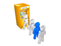 ATM queue Royalty Free Stock Images