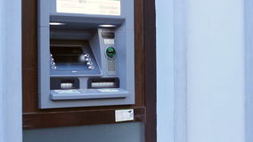 ATM Ready for Transactions stock footage