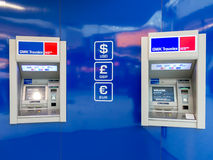 ATM at Schiphol Amsterdam Airport, Holland Stock Photography