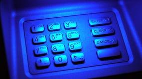 ATM-Schlüsselauflage Stockfoto