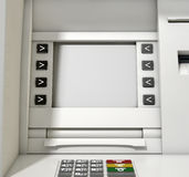 ATM Screen Blank Stock Photo
