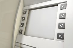 ATM Screen Blank Royalty Free Stock Photo
