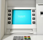 ATM Screen Enter PIN Code Royalty Free Stock Photography