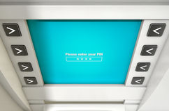 ATM Screen Enter PIN Code Stock Image