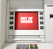 ATM Screen Out Of Order Royalty Free Stock Images