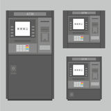 ATM. Set of the flat vector ATM machines stock illustration