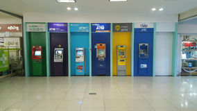 ATM in shopping mall  28-March-2017 : ATM in shopping mall have. Every bank, for service. You can transfer money - deposit - pay for the service. According to Stock Photo