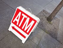 Atm sign Stock Photo