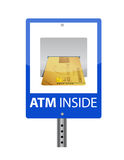 ATM sign Royalty Free Stock Images