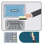 ATM sign and card Royalty Free Stock Image