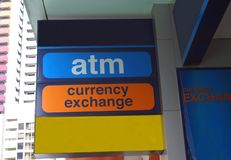ATM Sign. Currency Exchange Sign Stock Images