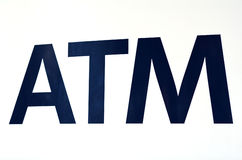 ATM sign Stock Photos