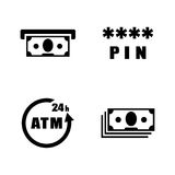 Atm. Simple Related Vector Icons Royalty Free Stock Photography
