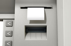 ATM Slip Blank Receipt Stock Photography