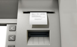 ATM Slip Declined Receipt Stock Images