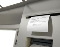 ATM Slip Declined Receipt Royalty Free Stock Photo