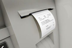 ATM Slip Withdrawel Receipt Royalty Free Stock Image