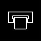 Atm slot na kartę koloru biała ikona Obraz Stock