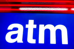 Atm symbol for cash withdrawal machine Royalty Free Stock Images