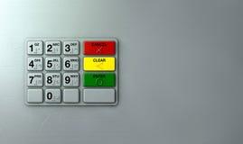 ATM-Tastatur-Nahaufnahme Stockfotografie