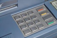 ATM-Tastatur oder TastaturRegistrierkasse - Bankwesenzahlen Lizenzfreie Stockbilder