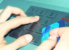 ATM-Tastaturblock Stockbild