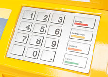 ATM-Tastaturblock Lizenzfreies Stockfoto