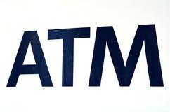 ATM-teken Stock Foto's