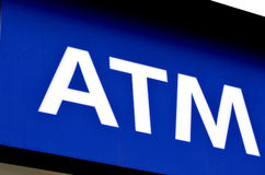 ATM-teken Stock Afbeeldingen
