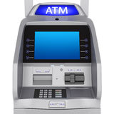 ATM terminal. Bank terminal modern style on a white background. ATM cash terminal with display stock illustration