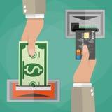 ATM terminal usage concept vector illustration