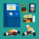 ATM Terminal Usage Royalty Free Stock Images
